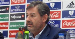 Javier González Calvo en una rueda de prensa