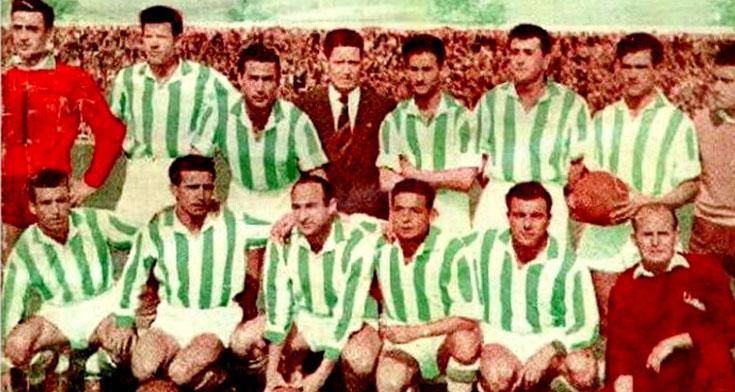 Una imagen del Córdoba de 1956, el primero que logró un ascenso. Foto: equiposdefutbol2.blogspot.com