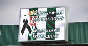 El Árcangel guardó un minuto de silencia en memoria de Jose Luis Navarro