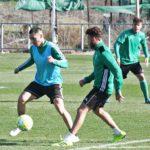Thierry Moutinho en el entrenamiento matinal de esta mañana. Autor: Paco Jiménez