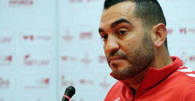 Adrián Hernández, entrenador grana. Foto: Real Murcia