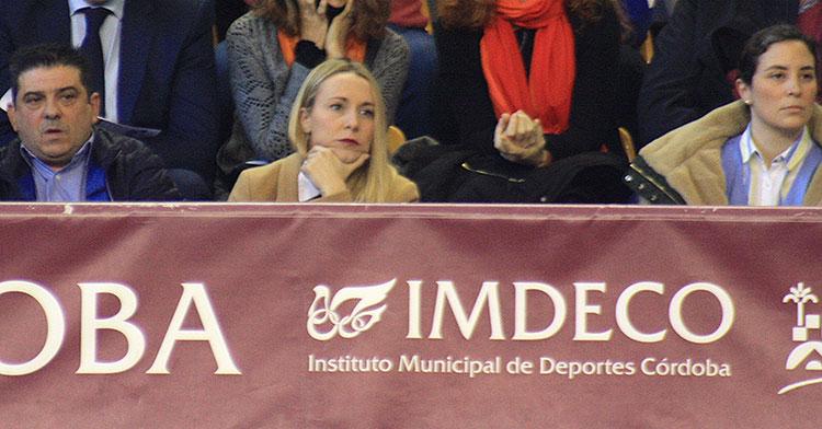 La diputada de Deportes, Ana Blasco, en el Vista Alegre