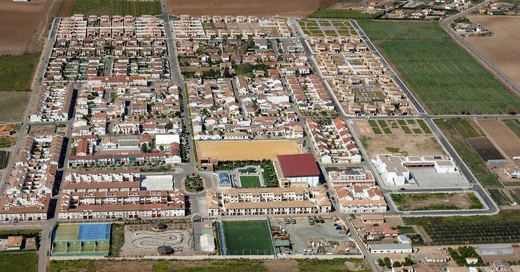 Una vista aérea de Encinarejo