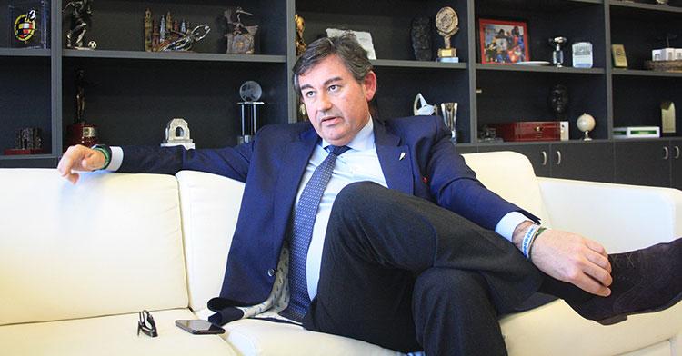 Javier González Calvo durante la entrevista con Cordobadeporte.com