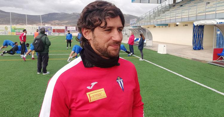 Javi Sánchez, entrenador del cuadro manhego. Foto: Formac Villarrubia
