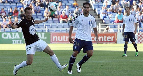 López Silva en el último partido Recre-Córdoba, en 2014. Foto: Alberto Domínguez / Diario de Huelva