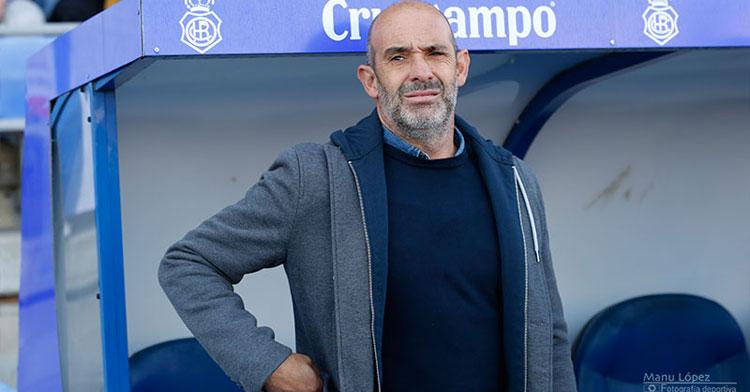 Alberto Monteagudo, entrenador recreativista. Foto: Manu López / Huelva24.com