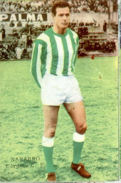 José Luis Navarro con la elástica blanquiverde en la década de los sesenta.