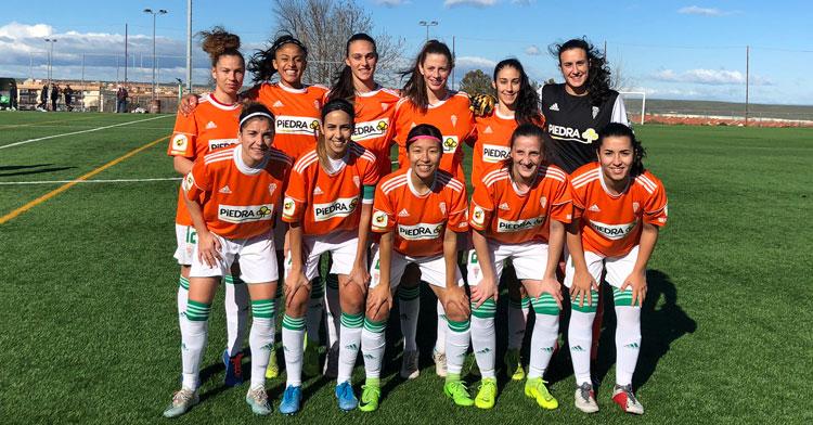 El once del Córdoba Femenino hoy en Cáceres. Foto: CCF