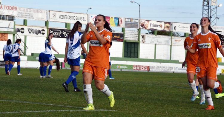 Una imagen del partido de ida entre Pozoalbense y Córdoba Femenino