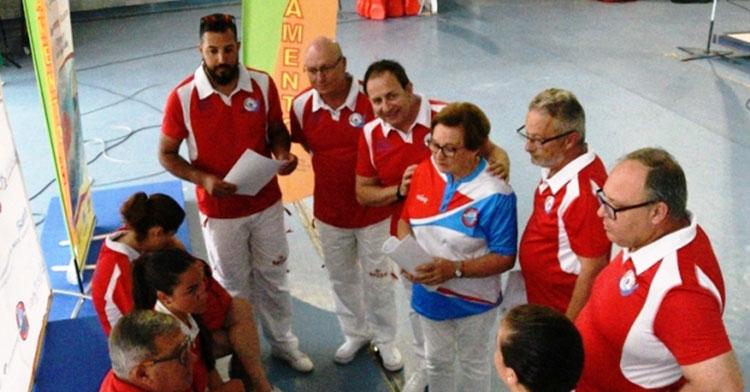 Reunión arbitral del Campeonato de España de Salvamento y Socorrismo, disputa en Málaga en 2018.