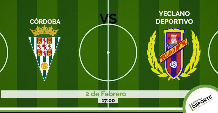 Sigue on line el Córdoba CF vs Yeclano.