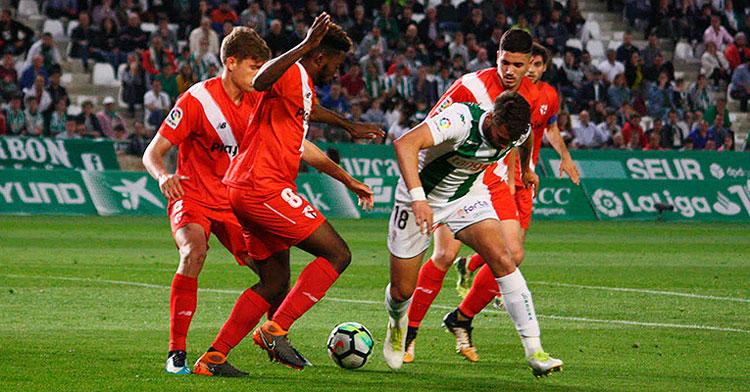 Una imagen del último encuentro entre Córdoba y Sevilla Atlético en 2018. Autor: Paco Jiménez