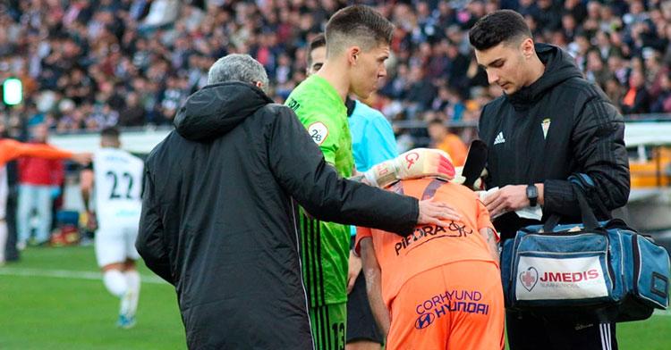 La lesión de Valverde y la anterior de Moutinho llevaron a Agné a tener que tirar de Fran Gómez durante bastantes minutos en Badajoz. Autora: María Delgado