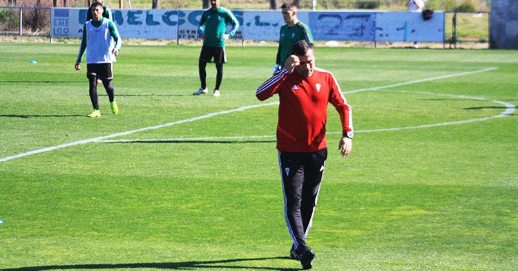 Raúl Agné durante una sesión de entrenamientos de esta semana.