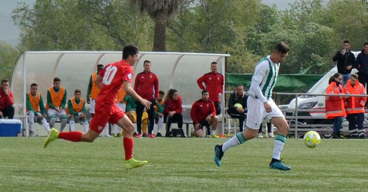 El Córdoba B en su partido con el Sevilla C de esta temporada. Foto: Javier Olivar