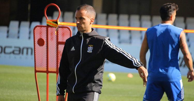 Borja Jiménez en un entrenamiento de su equipo. Foto: FC Cartagena