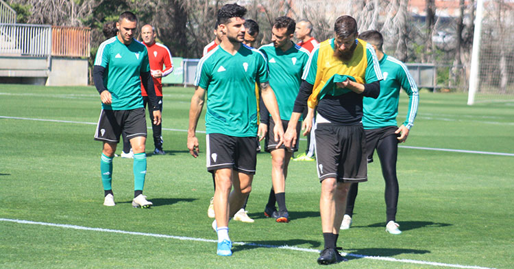 Chus Herrero a la conclusión de uno de los últimos entrenamientos en la Ciudad Deportiva.