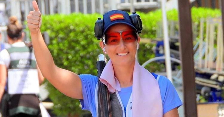 Feliz. Fátima Gálvez celebró su tercera medalla internacional de este 2020, la primera en el estreno de la Copa del Mundo.