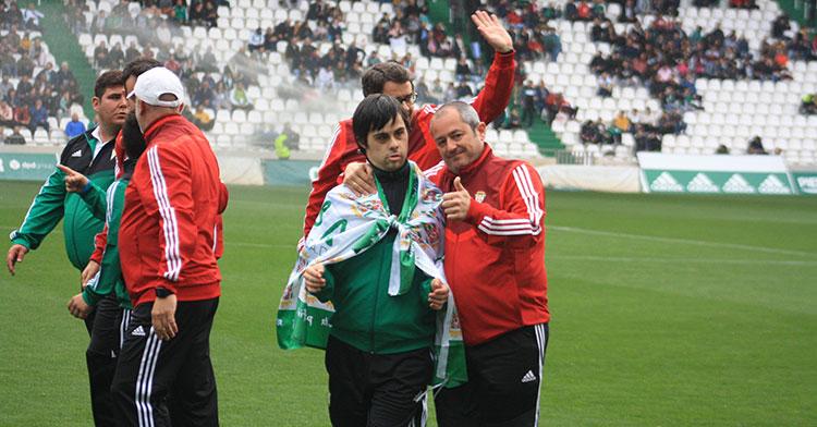Uno de los integrantes del equipo Genuine del Córdoba que ganó sus dos partidos del fin de semana.
