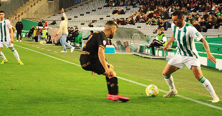 Thierry Moutinho en el partido contra el Algeciras