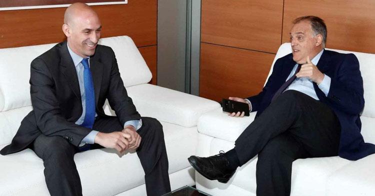 Rubiales y Tebas en una imagen de archivo. Foto: El Independiente