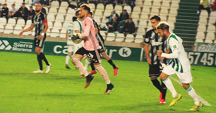 Vera en el último partido hasta la fecha, contra el Cartagena.