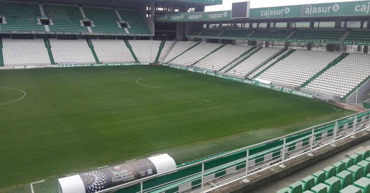 El Arcángel sin el calor de su público. Foto: Córdoba CF