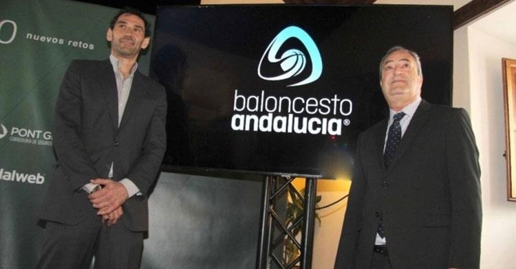 Antonio De Torres en el acto de hace unos meses con el presidente de la Española, Jorge Garbajosa