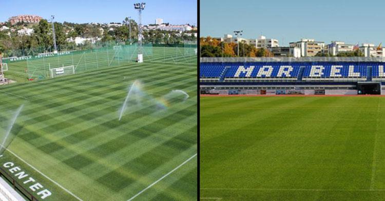 Los dos campos de la localidad de Marbella. Foto: RFAF