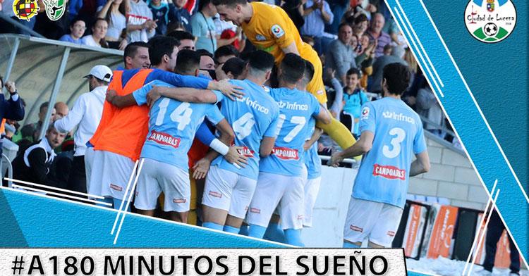 El Ciudad de Lucena, todo ilusión ante el play-off. Imagen: @ciudaddelucena