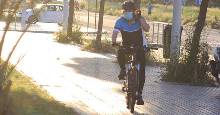 ciclista mascarilla
