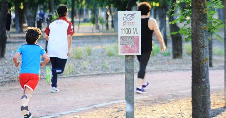 circuito corredores atletas
