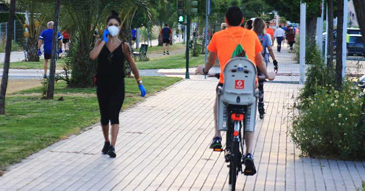 paseo ronda ciclista mascarilla