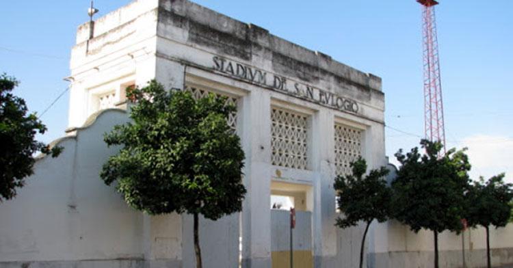 El estadio de San Eulogio, muy dañado por el tiempo