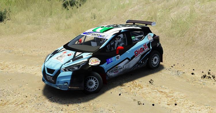 Una de las imágenes de los vehículos del rally virtual