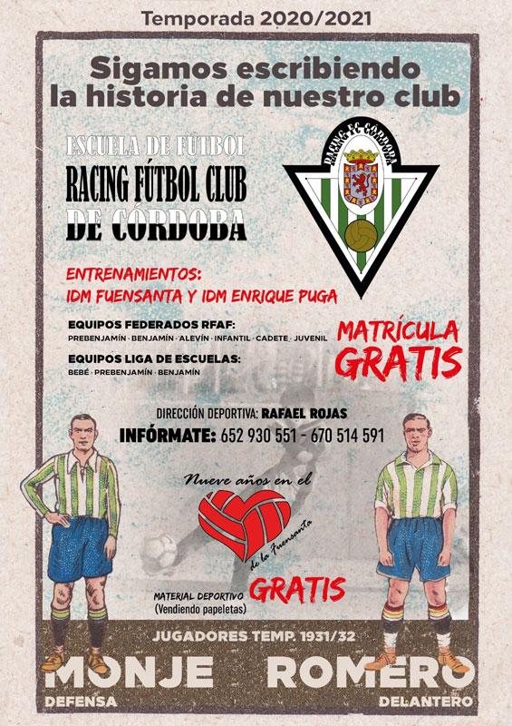 El cartel para la nueva temporada del Racing de Córdoba. Imagen: Juan Antonio Jiménez