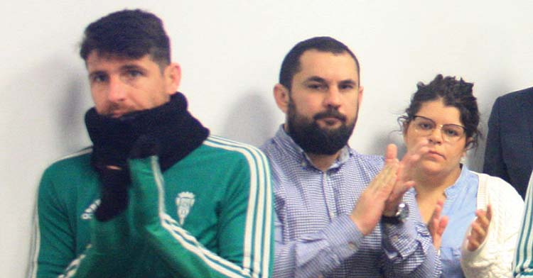 Jorge Rodríguez de Cózar durante la despedida de Raul Agné.