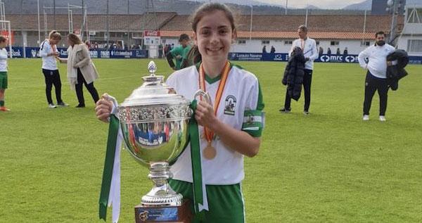 María José Pedrajas el día que ganó el título nacional con Andalucía. Foto: Hoy al día