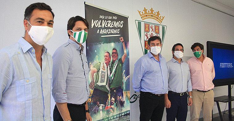Los consejeros del Córdoba la pasada semana durante la presentación de la campaña de abonados 2020.21.
