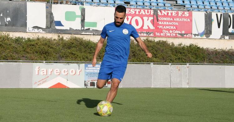 Mario Ruiz, en un entrenamiento. Foto: @ciudaddelucena