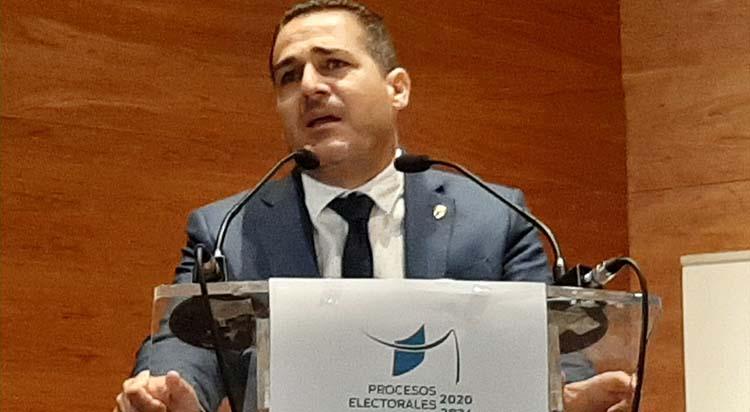 Pablo Lozano durante su discurso en la Asamblea General de este sábado.