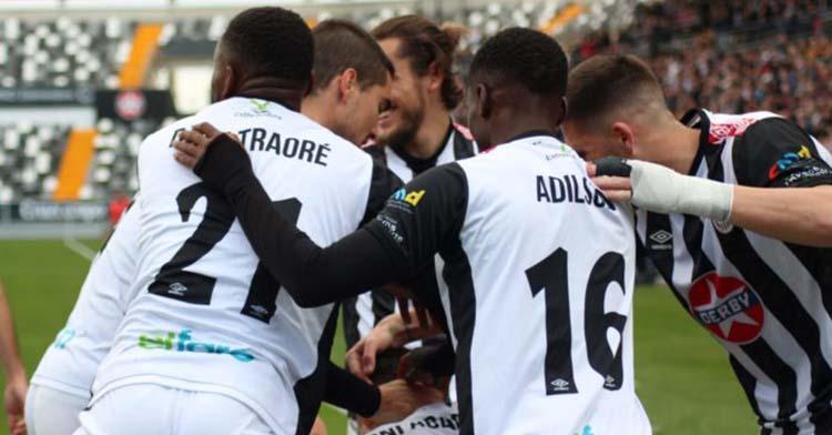 Djak Traoré celebrando un gol con el Badajoz.