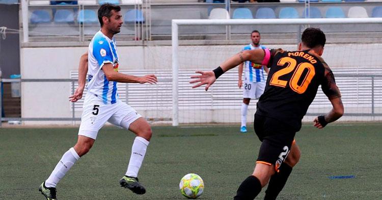 Dorado en una partido de la SD Ejea la pasada temporada. Foto: SD Ejea