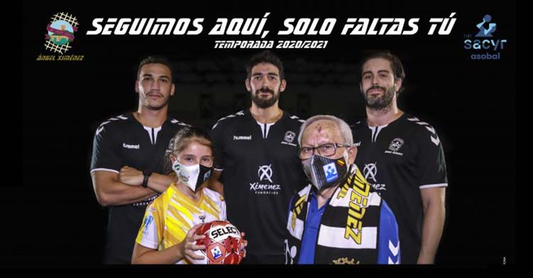El cartel de la campaña de abonados del Ángel Ximénez para la temporadas 2020-21.