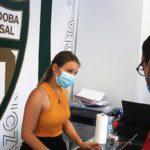 Un aficionado renueva varios carnets en la sede del Córdoba Patrimonio de la Humanidad.
