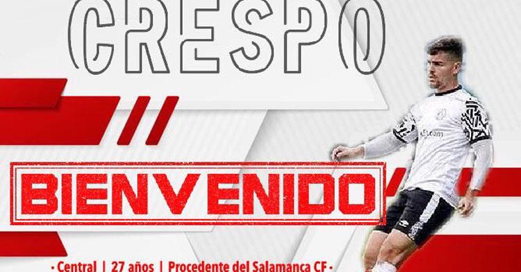 El cartelón del fichaje de Adri Crespo. Imagen: Zamora CF