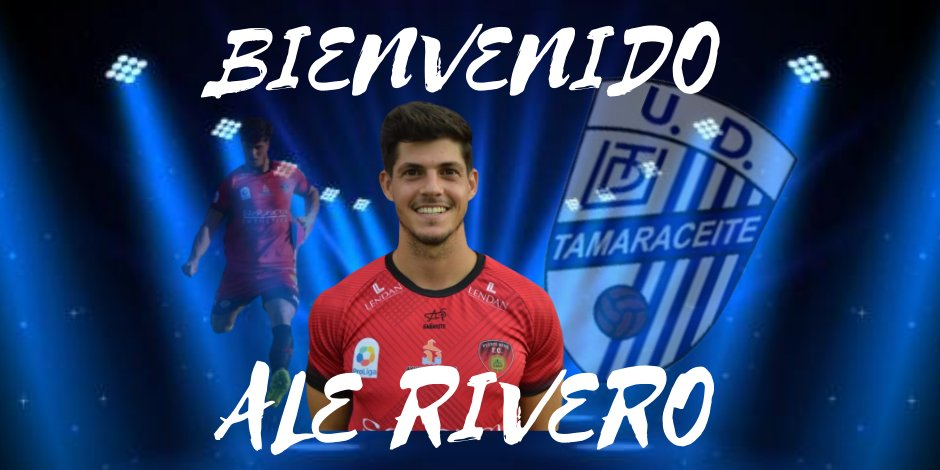 El cartelón con el que el Tamaraceite ha anunciado el fichaje de Ale Rivero