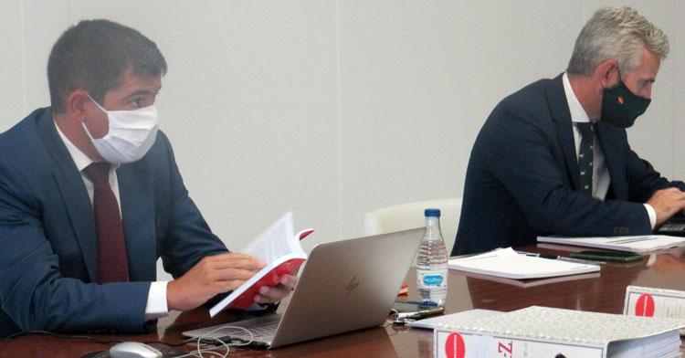 Francisco Estepa en la Junta de Accionisras en la que se rechazaron las cuentas de la 2018-19