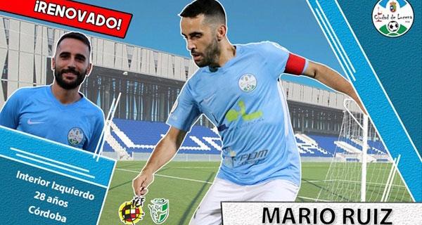 El cartelón para anunciar la renovación de Mario Ruiz. Foto: @Ciudaddelucena